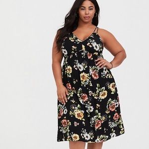 Torrid floral dress nwot sz 1